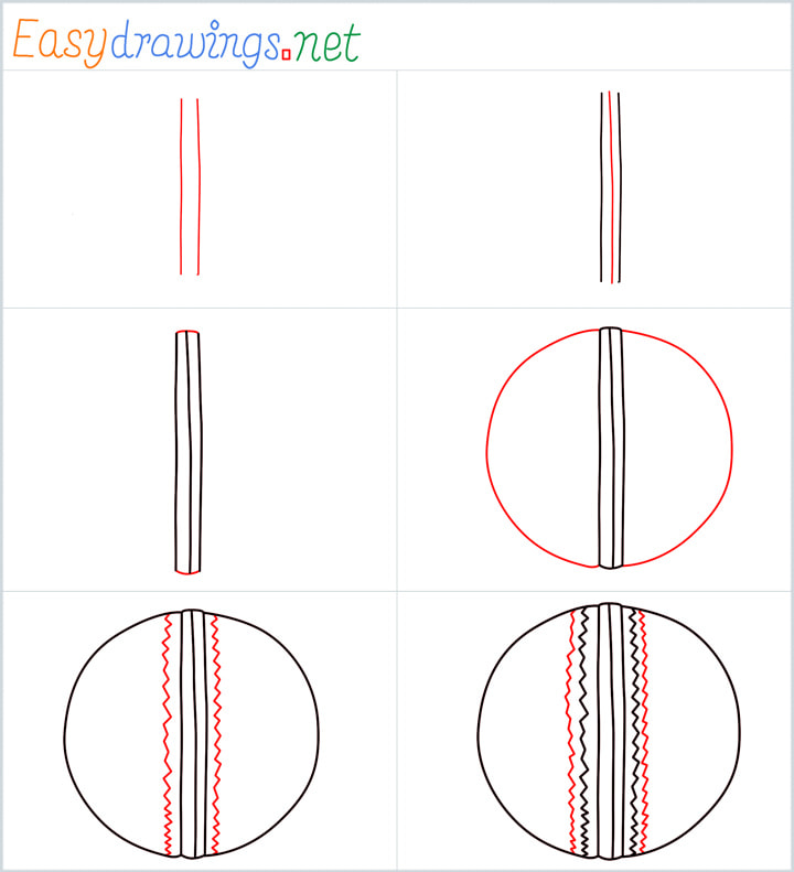 Cricket ball Drawing Overview