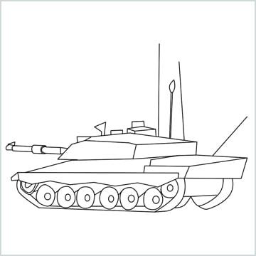 Draw a Army tank