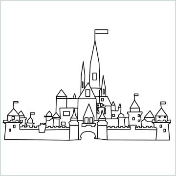Draw a Disney castle