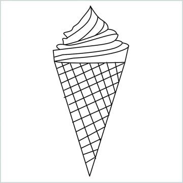 Draw a Ice cream