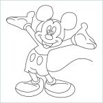 Draw a Mickey mouse