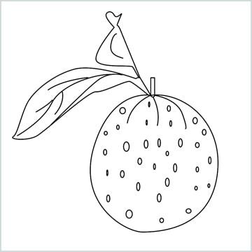Draw a Orange