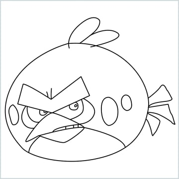 Draw a Red angry bird