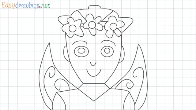 Fairy grid line drawing
