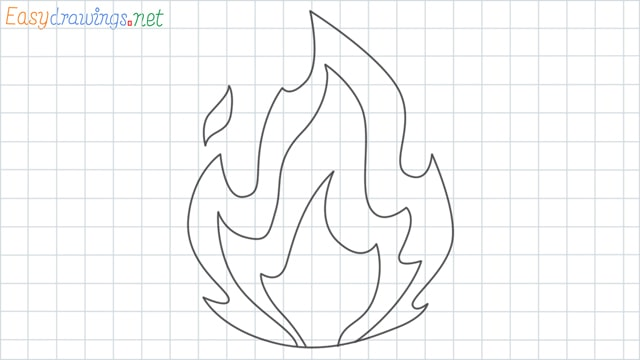 Fire grid line drawing
