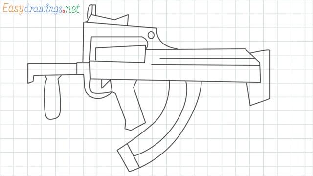 Groza gun grid line drawing