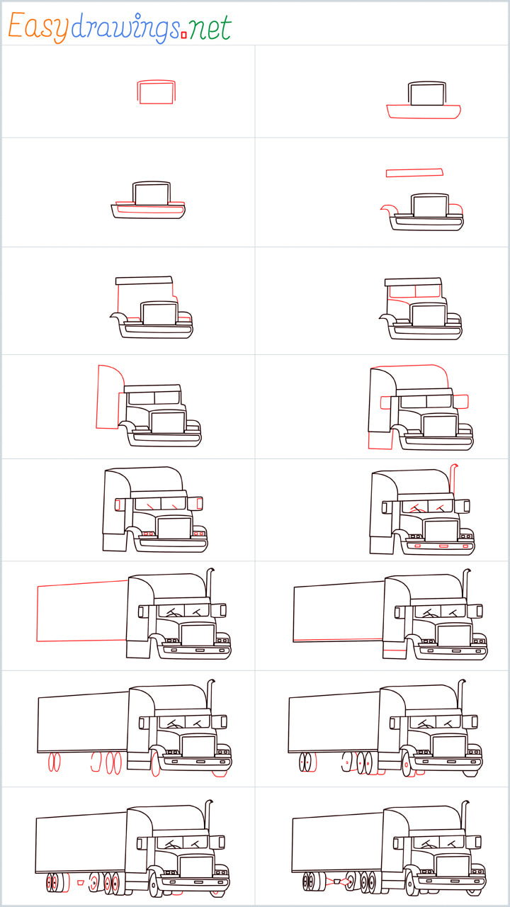Heavy Truck drawing Overview