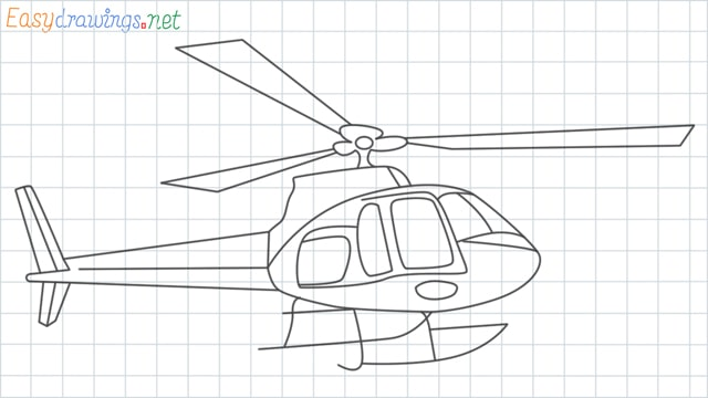 Helicopter grid line drawing