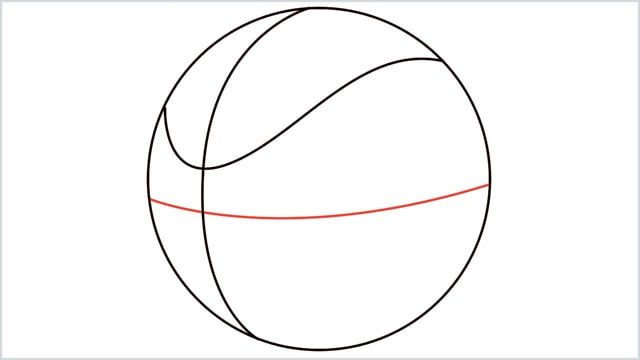 How To Draw A Basketball 4