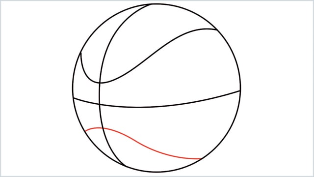 How To Draw A Basketball 5