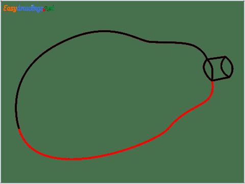 How To Draw A Easy Papaya Step (4)