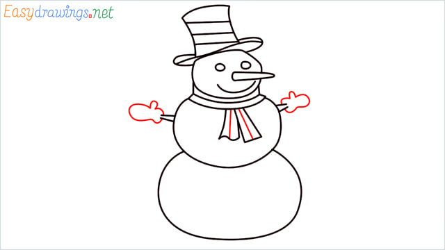How To Draw A Easy Snowman Step (10)