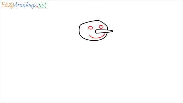 How To Draw A Easy Snowman Step (3)