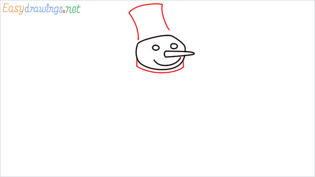 How To Draw A Easy Snowman Step (4)