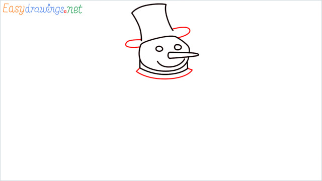 How To Draw A Easy Snowman Step (5)