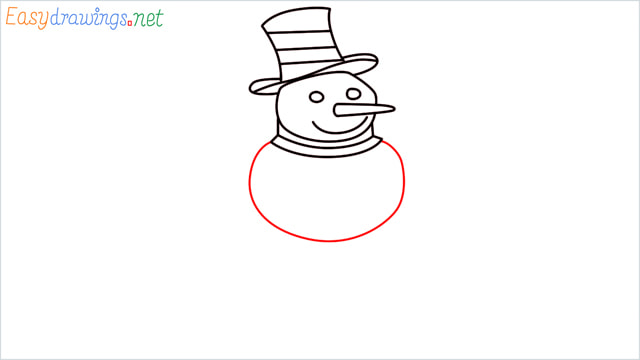 How To Draw A Easy Snowman Step (7)