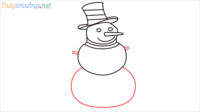 How To Draw A Easy Snowman Step (8)
