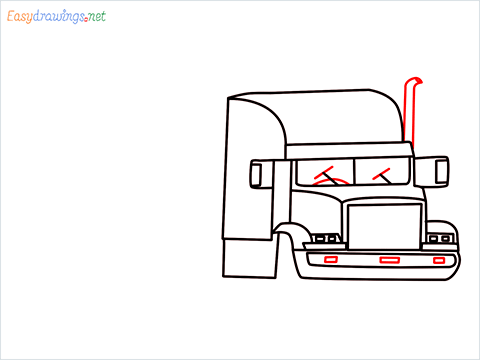 How To Draw A Heavy Truck Step (10)