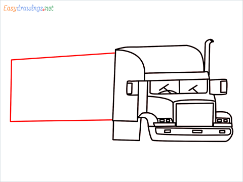How To Draw A Heavy Truck Step (11)