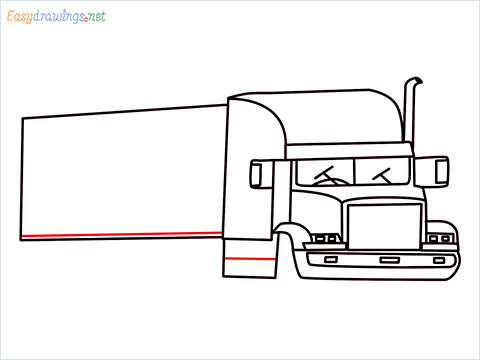 How To Draw A Heavy Truck Step (12)
