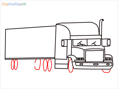 How To Draw A Heavy Truck Step (13)