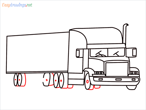 How To Draw A Heavy Truck Step (14)