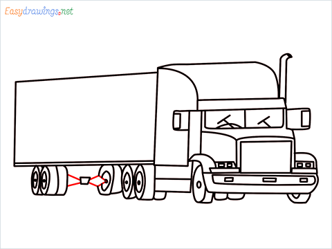 How To Draw A Heavy Truck Step (16)