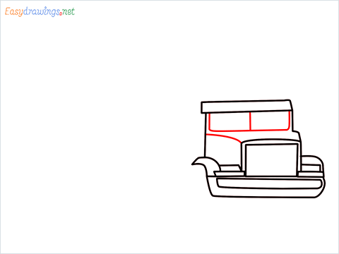 How To Draw A Heavy Truck Step (6)
