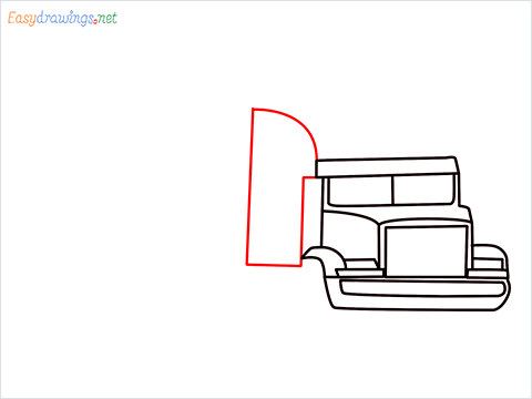 How To Draw A Heavy Truck Step (7)