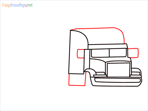 How To Draw A Heavy Truck Step (8)