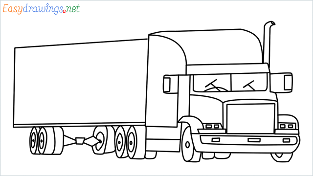 How To Draw A Truck Step by Step Easy for Beginners