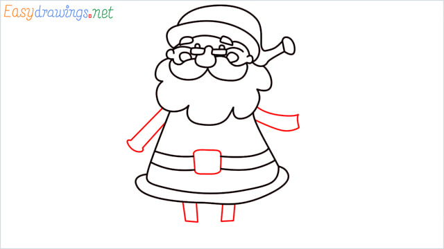 How To Draw Easy Santa Claus Step (11)