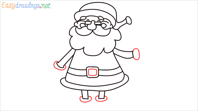 How To Draw Easy Santa Claus Step (12)