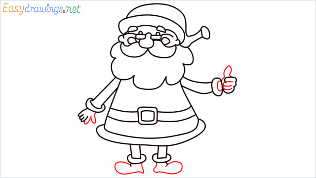 How To Draw Easy Santa Claus Step (14)