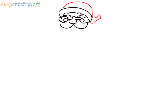 How To Draw Easy Santa Claus Step (7)