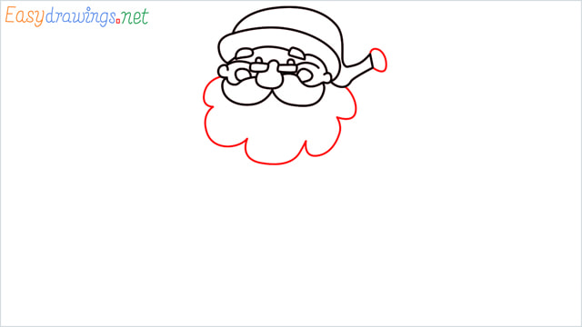 How To Draw Easy Santa Claus Step (8)