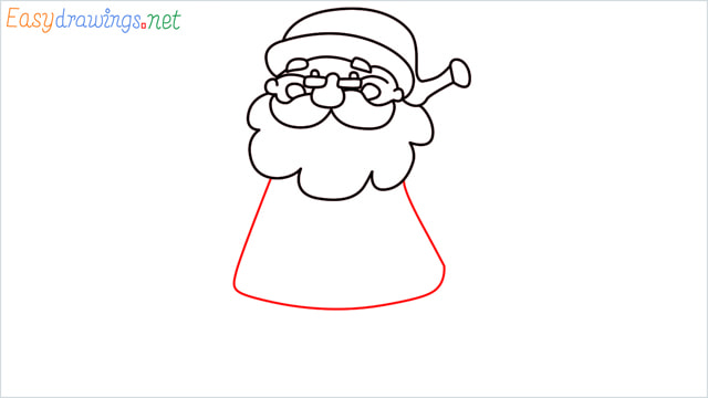 How To Draw Easy Santa Claus Step (9)