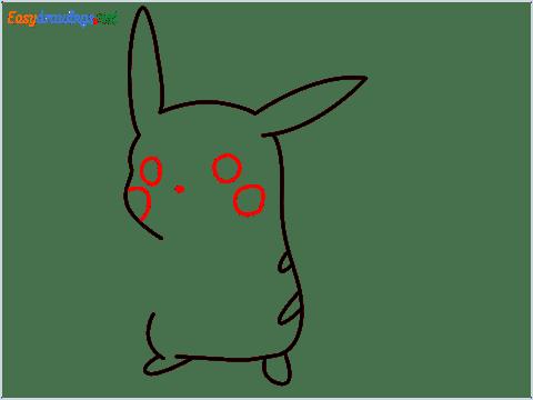 How To Draw Pikachu Easy Trick Step (5)
