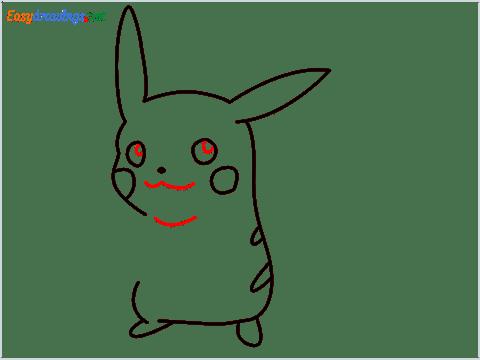 How To Draw Pikachu Easy Trick Step (6)