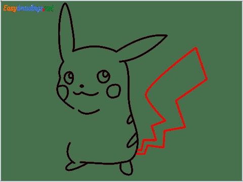 How To Draw Pikachu Easy Trick Step (7)