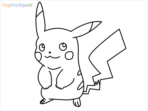 How To Draw Pikachu Easy Trick Step by Step for Beginners