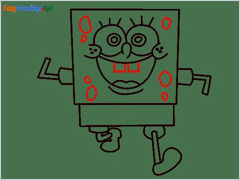 How To Draw Spongebob Step (9)