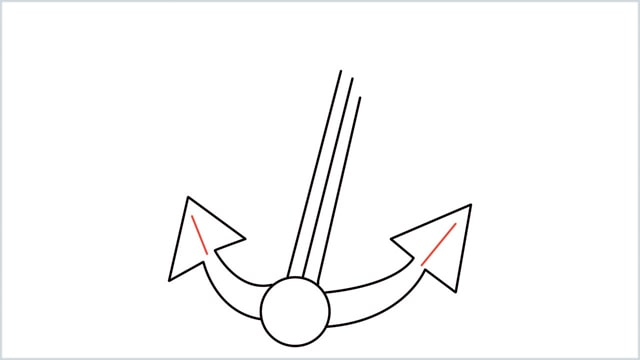 How To Draw an Anchor Step 7