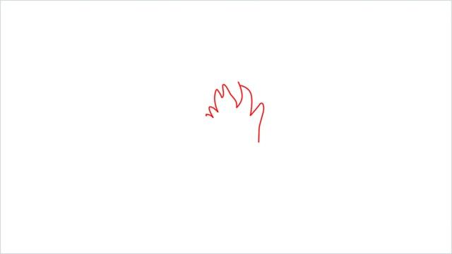 How to Draw Goku step (1)