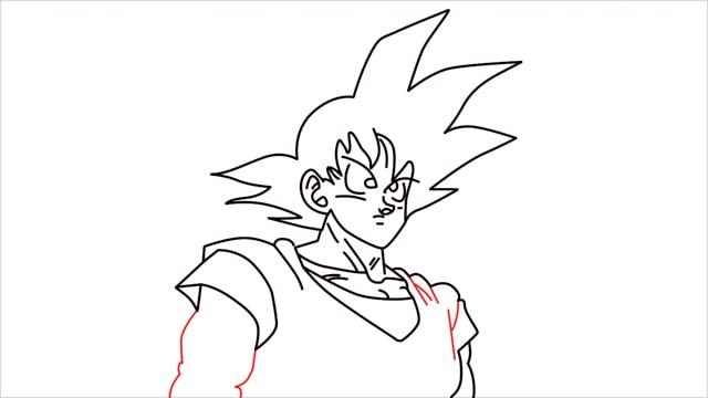 How to Draw Goku step (10)
