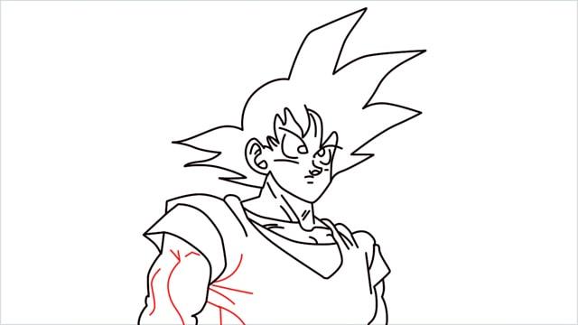 How to Draw Goku step (11)