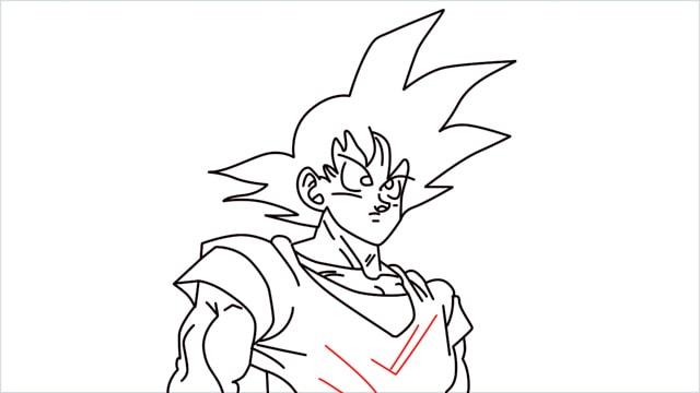 How to Draw Goku step (12)