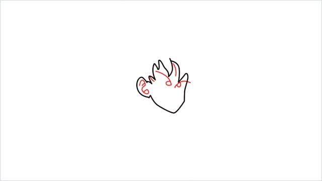 How to Draw Goku step (3)