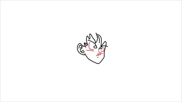How to Draw Goku step (4)