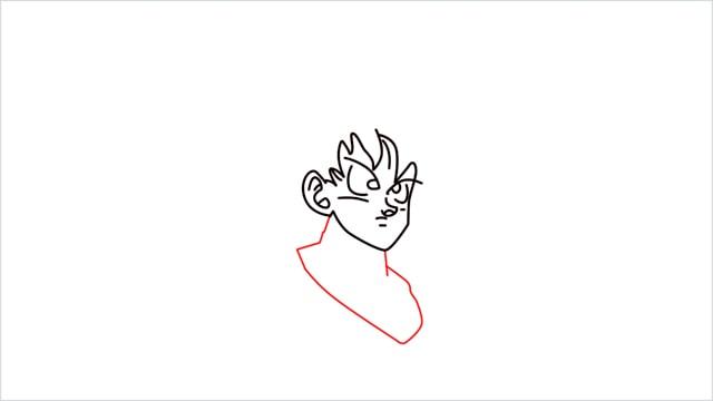 How to Draw Goku step (5)